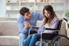 Young woman in wheel chair