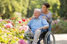 older man in wheel chair